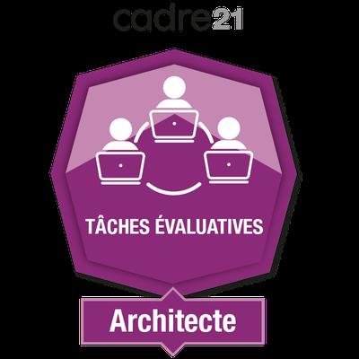 Tâches évaluatives en FAD 2 – Architecte