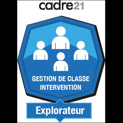 Gestion de classe - Intervention 1 - Explorateur