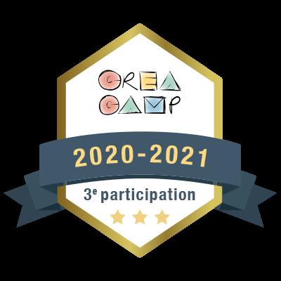 CréaCamp 3e participation 2020-2021