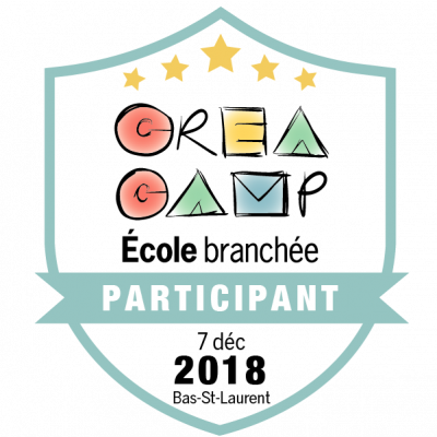 CréaCamp Bas-St-Laurent décembre 2018 – Participant