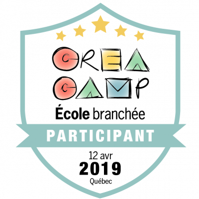 CréaCamp Québec avril 2019 – Participant