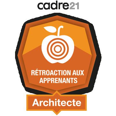 Rétroaction aux apprenants 2 - Architecte