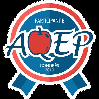 Participant au congrès de l'AQEP en 2019