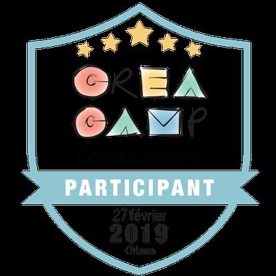 CréaCamp Ottawa février 2019 – Participant