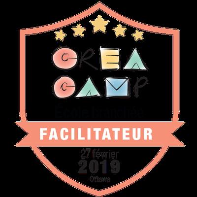 CréaCamp Ottawa février 2019 – Facilitateur