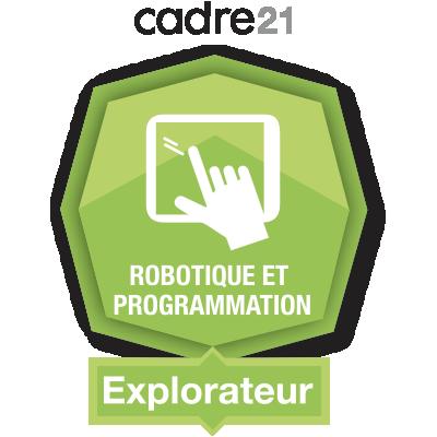 Robotique et programmation 1 – Explorateur badge émis à linda.romeo@stanislas.qc.ca