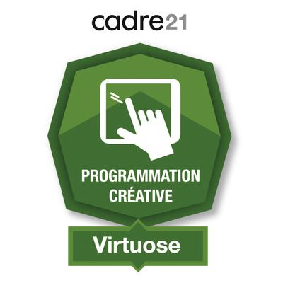 Programmation créative 3 - Virtuose badge émis à linda.romeo@stanislas.qc.ca