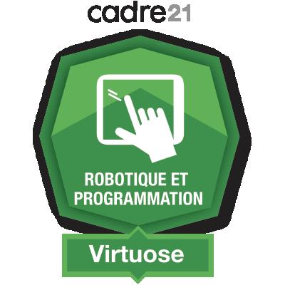 Robotique et programmation 3 – Virtuose badge émis à linda.romeo@stanislas.qc.ca