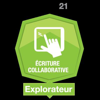 Écriture collaborative 1 - Explorateur badge émis à ouellette.lorraine@cegepvicto.ca