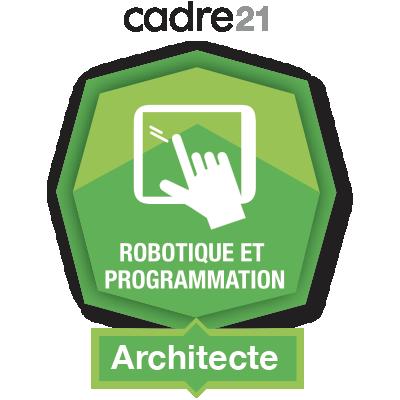 Robotique et programmation 2 – Architecte badge émis à linda.romeo@stanislas.qc.ca