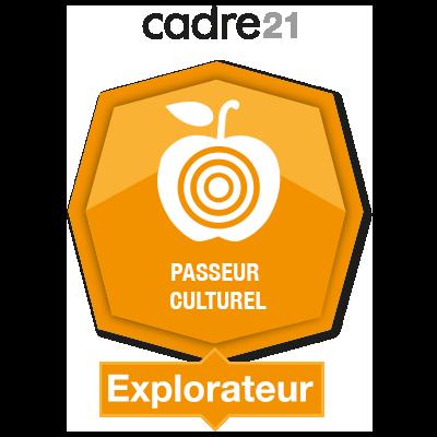 Passeur culturel 1 – Explorateur badge émis à gabriela-medeiros20@hotmail.com