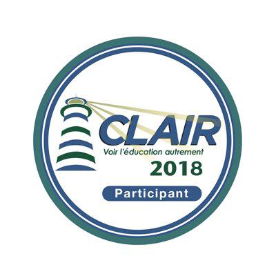 Clair 2018 - Participant badge émis à fricher@collegenf.ca
