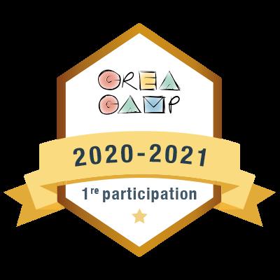 CréaCamp 1re participation 2020-2021 badge émis à cdube@collegebeaubois.qc.ca