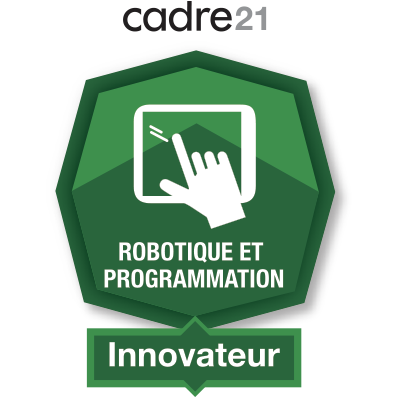 Robotique et programmation 4 – Innovateur badge émis à linda.romeo@stanislas.qc.ca