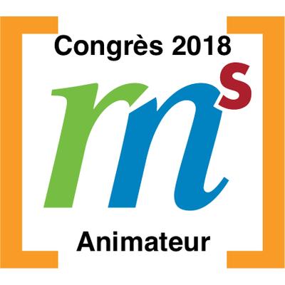 Animateur au congrès GRMS en 2018 badge émis à mcharbonneau@academieprodigi.com