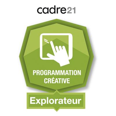 Programmation créative 1- Explorateur badge émis à ouellette.lorraine@cegepvicto.ca