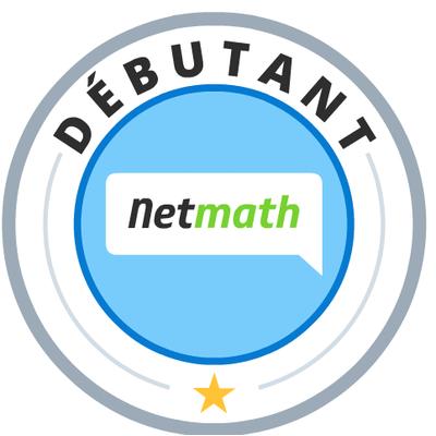 Badge Netmath débutant