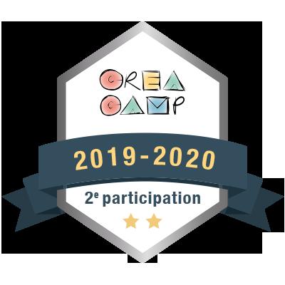 CréaCamp 2e participation 2019-2020