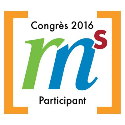Participant au congrès du GRMS en 2016 badge émis à j.nicol@college-msc.qc.ca