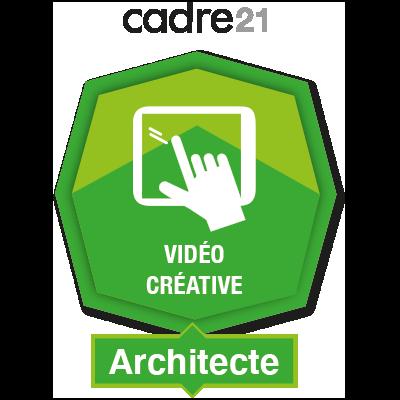 Vidéo créative 2 – Architecte badge émis à alain.lemire@esb1954.com