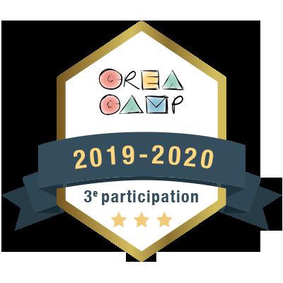 CréaCamp 3e participation 2019-2020