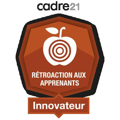 Rétroaction aux apprenants 4 - Innovateur