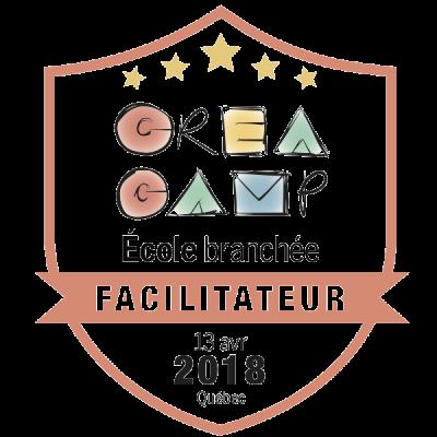 CréaCamp Québec avril 2018 – Facilitateur